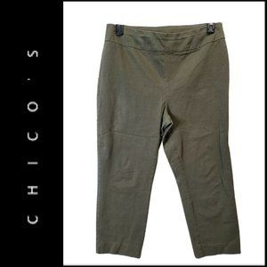 Chico's Flat Front So Slim Skinny Pull On Pants 2